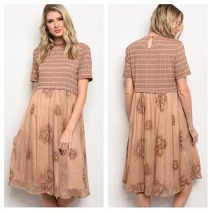 1 more size added! Mixed Pattern Dress